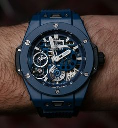 Vintage Watches Hublot Ceramic Blue Hands-On and Why This Big Bang Is For Watch Movement Lovers Amazing Watches, Best Watches For Men, Luxury Watches For Men, Beautiful Watches, Cool Watches, Rolex Datejust, Hublot Watches, Men's Watches, Man Fashion
