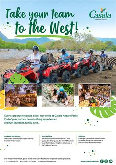 Casela Nature Parks - Take your team to the West ! Tel: 401 6500 / 54 22 00 91