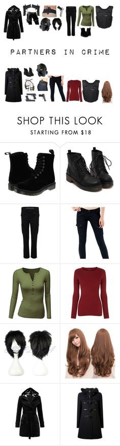 """Partners In Crime"" by sage-steward on Polyvore featuring Dr. Martens, Marc by Marc Jacobs, J Brand, Doublju, Warehouse, Sankins, Loveless and GAS Jeans"