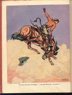 price reduced 1936 The BOOK of COWBOYS Holling C HOLLING beautiful illustrations free shipping in us