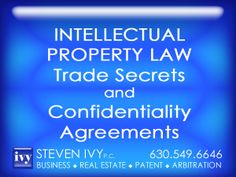 STEVEN IVY P.C. focuses on trade secret protection. If you have a trade secret that soon will be exposed to a contractor or an employee, our law firm can draft a customized confidentiality agreement designed to firmly protect your interests. If unauthorized disclosure of your secret has already occurred, our attorney can implement a vigorous litigation process designed to obtain just compensation.