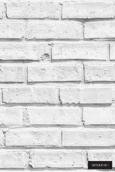 Beautiful wallpaper   Arthouse Options White Brick 623004 bij Behangwebshop