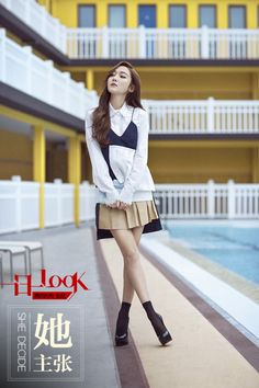 Jessica Jung for 一日一Look Jessica & Krystal, Krystal Jung, Kpop Fashion, Korean Fashion, Fashion Trends, Airport Fashion, Jessica Jung Fashion, Korean Girl Band, Summer Chic