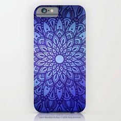 Dark Mandala in Blue by Kelly Dietrich