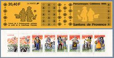 Santons de Provence postage stamps.  Pinned by www.mygrowingtraditions.com