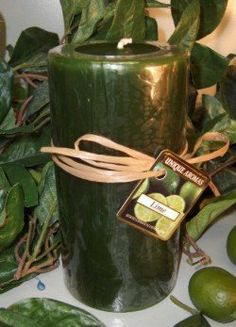23 oz Round Pillar Lime Scent Candle by Unique Aromas. $23.93. Price per each candle. Candle color may vary from photograph. Lime scent. This candle is sure to bring joy and warmth to all those in the presence of it.Some assembly may be required. Please see product details. Some assembly may be required. Please see product details.