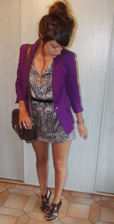 LookBook How-To:  Blazer w/ dress - all in the length