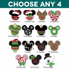 Mickey Heads: Christmas Die Cuts