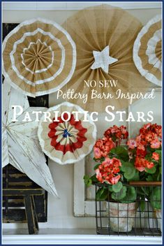 NO SEW POTTERY BARN INSPIRED PATRIOTIC STARS Step by step instructions for this easy summer project.