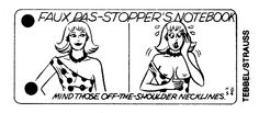 """Faux Pas-Stopper's Notebook"" from The Village Voice, 1984"