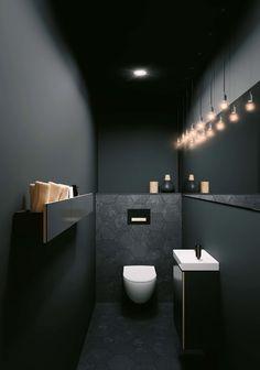 Toiletruimte met toilet en badkameubel van Sphinx # b… Toilet room with toilet and bathroom furniture from Sphinx # bathroom furniture Wc Design, House Design, Modern Toilet Design, Design Hotel, Villa Design, Bath Design, Modern Design, Bathroom Inspiration, Bathroom Ideas