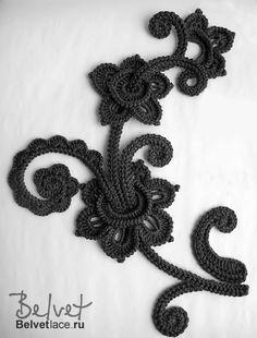 IRISH CROCHET LACE--looks more like Romanian point lace to me. Not sure that I've ever seen this braid in Irish crochet before Irish Crochet Patterns, Crochet Motifs, Freeform Crochet, Crochet Art, Thread Crochet, Crochet Designs, Crochet Crafts, Doilies Crochet, Doily Patterns
