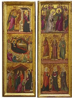 Saints and Scenes from the Life of the Virgin; Master of Monte Oliveto Siena (1305-1335)