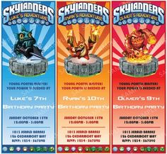 Skylanders-Inspired Printable Birthday Party Invitation - DIY Digital | creativecreekstudio - Digital Art  on ArtFire
