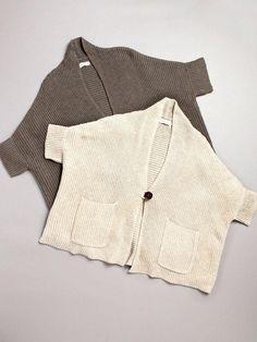 boxy knit cardigan.