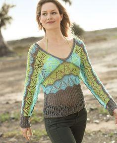 Пуловер с цельновязаными рукавами - схема вязания спицами. Вяжем Пуловеры на Verena.ru