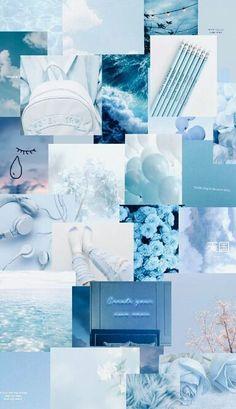 Light Blue Aesthetic, Blue Aesthetic Pastel, Aesthetic Colors, Aesthetic Collage, Aesthetic Vintage, Aesthetic Painting, Witch Aesthetic, Aesthetic Desktop Wallpaper, Iphone Background Wallpaper