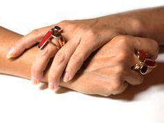 Monica Castiglioni ring bronze enamel  www.monicacastiglioni.com