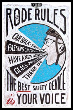 Road Rules 1 by CYCOLOGY. Authentic hand drawn sketches. Available as posters, canvas prints, cards, etc from Red Bubble. http://www.redbubble.com/people/cycology/