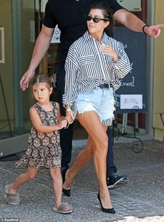 Happy:Her little girl just turned five years old; Kourtney and Penelope seen on June 22 i...