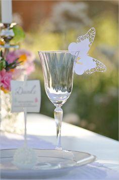 butterfly champange glass decor http://www.weddingchicks.com/2013/10/24/pastel-wedding-inspiration/