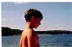 Spencer on Washington Island Wisconsin when he was about 5