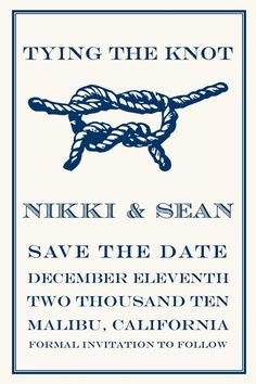 tying the knot save the date from etsy