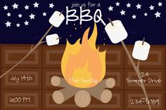 Smores+Invitation++for+Printing+or+Emailing+by+Freshcitrus+on+Etsy,+$3.00