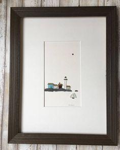 Dieses ursprüngliche Pebble Kunstwerk ist mattiert, in einem 12 x 16 Rahmen passen. Reihenfolge, in der es mit Passepartout, Glas und dunklen grauen Rahmen gerahmt abgebildet, oder nur verfilzt und bereit, im Rahmen Ihrer Wahl.