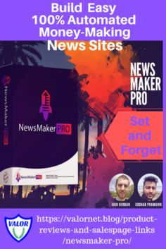 NewsMaker PRO - Valornet NewsMaker PRO Set and Forget News Website Maker Automated Choose Your News Subjects Make Your Own News Site Be a News Site Developer for Profit Add Click Per Action Ads Use Your Imagination for the Possibilities Website Maker, News Website, Logo Maker, Geek Culture, Film Maker, Making Your Own Website, Website Design Company, Custom Website, Islands