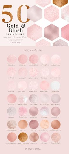 50 Gold & Blush Textures - Textures