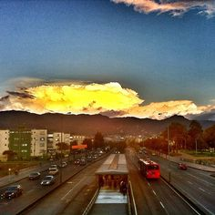 """Our hills & Clouds #instagramyourcity #bogota @socialmediaweek @smwbog #transmilenio #colombia #igerscolombia"" by @doctorchapu"