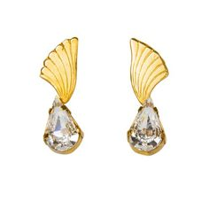 https://www.cityblis.com/6016/item/12361 | HERMES earrings, HEADLIGHTS collection - $77 by 10 DECOART | Simple yet sophisticated stud earrings carefully hand-crafted using only the finest materials available.   Materials: Swarovski crystals embedded in 24K gold plated brass. Care Instructions : Do not store your jewelry in humid environments and avoid any contact with water. By occasionally polishi... | #Earrings