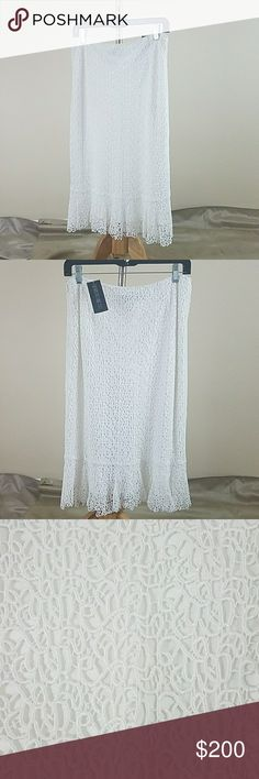 Lafayette 148 New York White Silk Skirt NWT Authentic Lafayette 148 New York Size 8 Originally  $348 Great condition AB200 Lafayette 148 New York Skirts