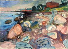 Edvard Munch – Shore with Red House, 1904