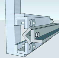 """CNC rail, made of 1 1/2"""" aluminiun angle"""