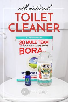 Learn how to make a simple and all-natural toilet bowl cleaner. This homemade cleaning solution will make your toilet bowl sparkle, and smell great too!