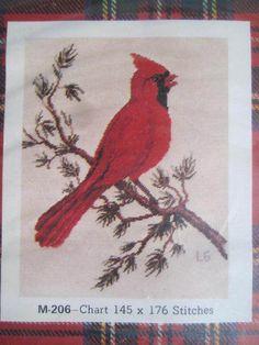See Sally Sew-Patterns For Less - Cardinal Bird Petit Point Jean McIntosh Designs No. M - 206 Needlework Kit , $15.00 (http://stores.seesallysew.com/cardinal-bird-petit-point-jean-mcintosh-designs-no-m-206-needlework-kit/)