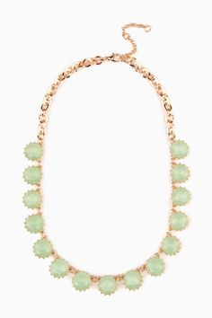 Crystal Row Necklace in Mint / ShopSosie #mint #crystal #stones #necklace #shopsosie
