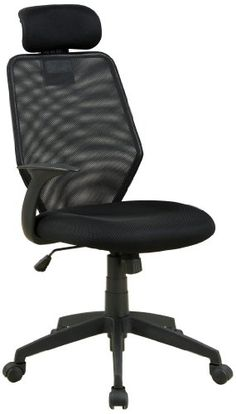 Swivel Office chair - Pin it :-) Follow us :-)) AzOfficechairs.com is your Office chair Gallery ;) CLICK IMAGE TWICE for Pricing and Info :) SEE A LARGER SELECTION of  swivel office chair at  http://azofficechairs.com/?s=swivel+office+chair -  office, office chair, home office chair -  Furniture of America Newton Mesh Back Accent Chair, Black « AZofficechairs.com