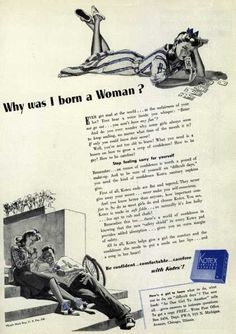 Kotex Company's Sanitary Napkins – 'Why was I born a Woman?' (1941)