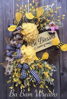 Summer Wreath Summer Decor Summer Door Everyday by BaBamWreaths