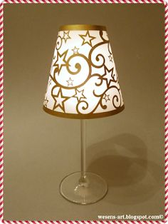 This Star-Wineglass-Lampshade is a quick and easy #last-minute #gift idea! via @Wesens-Art