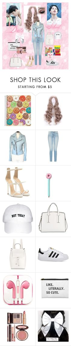 """Date with Jimin"" by mimiisabooknerd ❤ liked on Polyvore featuring Balenciaga, Giuseppe Zanotti, French Connection, adidas, PhunkeeTree and Charlotte Tilbury"