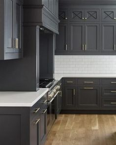 Cheating Heart by Benjamin Moore. Cabinet Paint Color. Dark charcoal grey kitchen paint color Cheating Heart by Benjamin Moore. #CheatingHeartbyBenjamin Moore Fox Group Construction