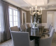 Dining in style: Can you imagine a high chair perched at the end of that table?