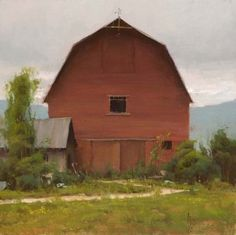 Josh Clare :: Astoria Fine Art Gallery in Jackson Hole Landscape Art, Landscape Paintings, Barn Paintings, Landscapes, Mormon Trail, Fine Art Gallery, Watercolor And Ink, Rocky Mountains, House Styles