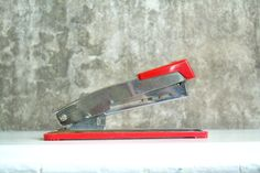 Vintage Bostitch Stapler B9 Red and Silver Office Accessory by TheArtifactoryStudio on Etsy