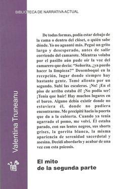 """Cubierta trasera de mi libro de relatos """"El mito de la segunda parte"""" (Sinamaica, 2000) Decir No, Words, Waiting Staff, The Voice, Libros, Horse"""