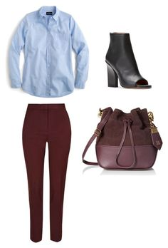 """OFFICE LOOK"" by styrnam on Polyvore featuring moda, J.Crew i ZAC Zac Posen"